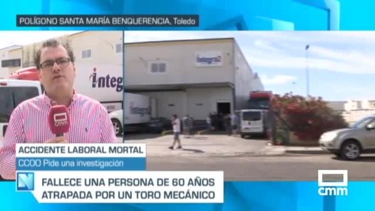 Accidente laboral: Muere un trabajador en Toledo atrapado por un toro mecánico