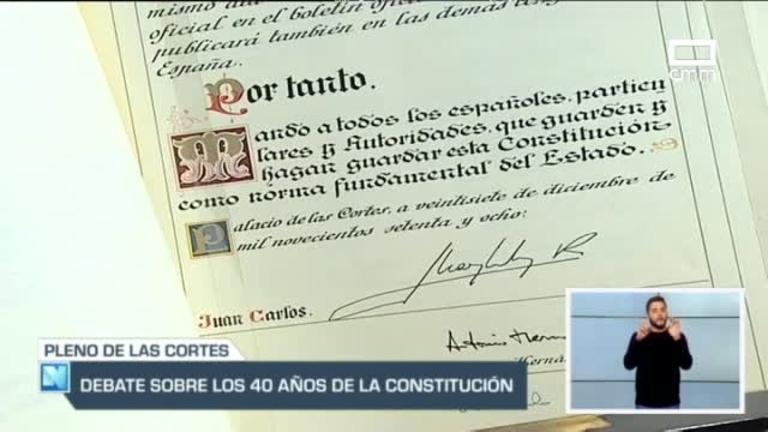 Las Cortes debaten sobre la Constitución