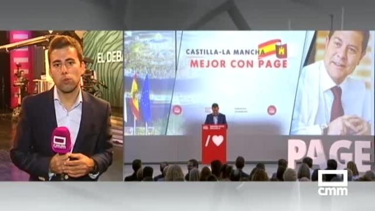 """PSOE: García-Page se enfrenta al debate en CMM """"con tranquilidad""""; Tolón en Toledo; Dolz en Cuenca y Sáez en Albacete"""