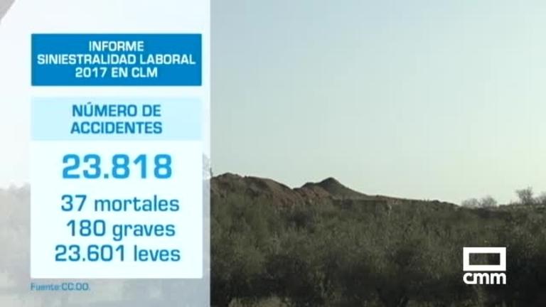 Siniestralidad laboral Castilla-La Mancha: aumenta un 18% en cuatro años