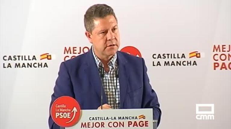PSOE: Pedro Sánchez pide el voto para el presidente de Castilla-La Mancha