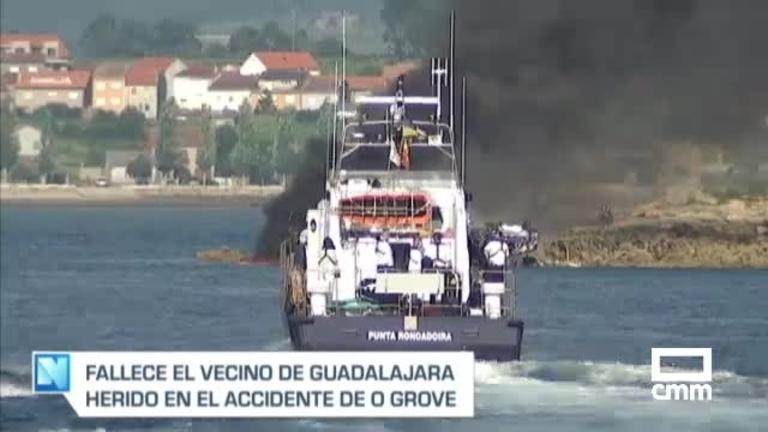 Muere el hombre de Guadalajara herido en el incendio del catamarán de O Grove