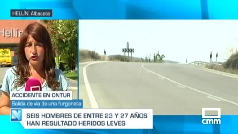 Vuelca una furgoneta con nueve ocupantes en Ontur (Albacete)