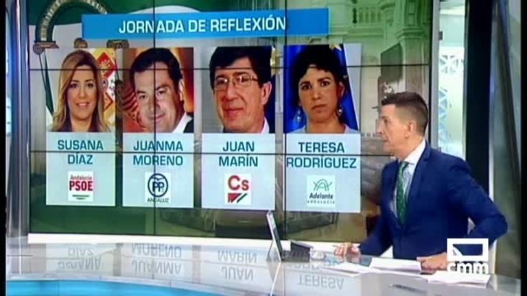 Cuenta atrás en Andalucía: jornada de reflexión antes de unas elecciones que se prevén reñidas
