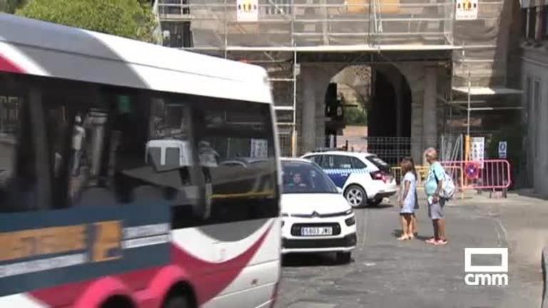 Toledo cierra la Puerta del Cambrón a vehículos industriales y autobuses no urbanos