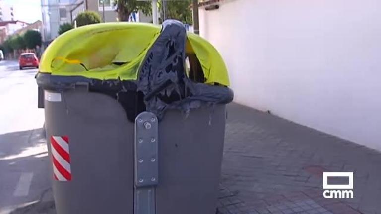 Contenedores quemados en Alcázar de San Juan: ya van 50 en 2018