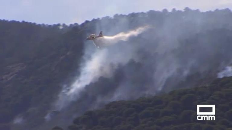 Controlado el incendio forestal de Cenicientos (Madrid) y Almorox (Toledo)