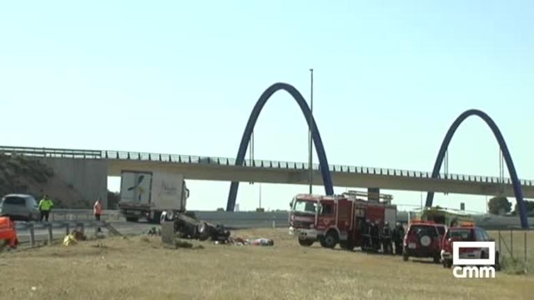 Una mujer muerta y otras cuatro personas heridas en un accidente en la AP-36 a su paso por La Roda (Albacete)