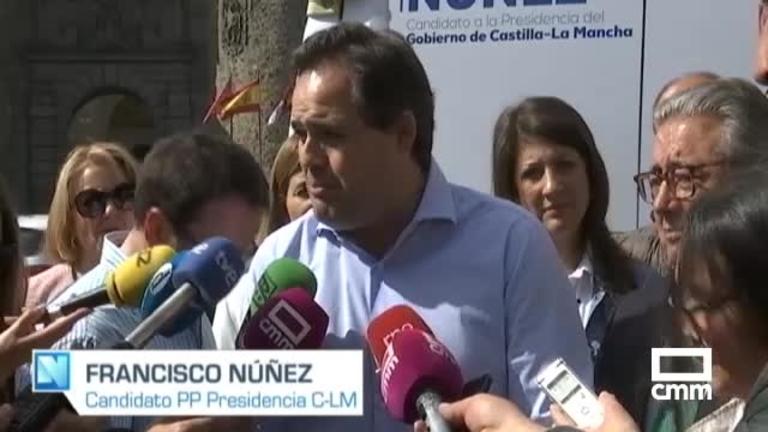 26M : Paco Núñez (PP), primer día de campaña con Zoido y Claudia Alonso en Toledo