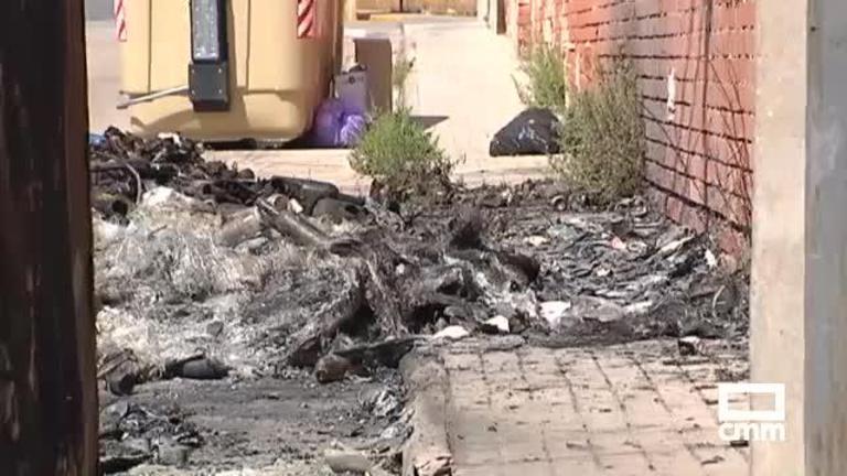 Cinco contenedores arden en Consuegra esta madrugada