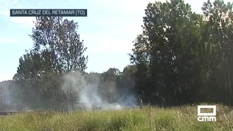 Controlado el incendio forestal de Santa Cruz de Retamar (Toledo), originado por una barbacoa