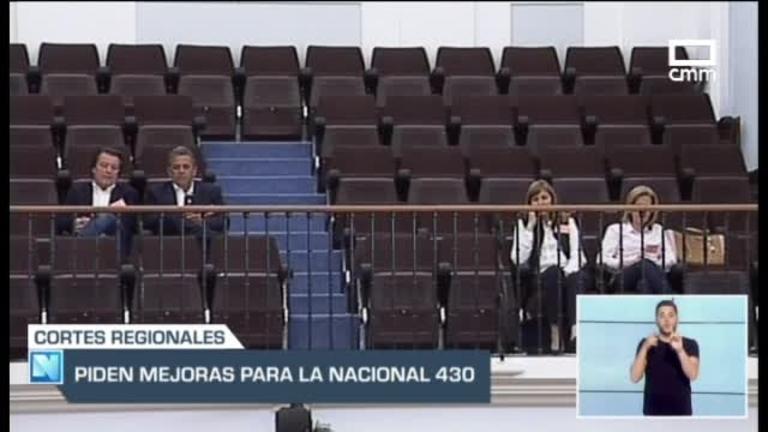Unanimidad entre los grupos parlamentarios para demandar mejoras urgentes en la Nacional 430