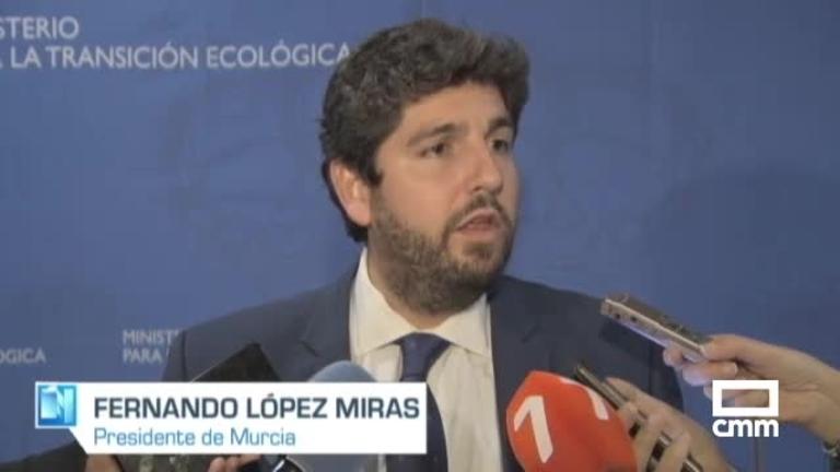 El presidente de Murcia dice que el Gobierno cerrará el trasvase Tajo-Segura