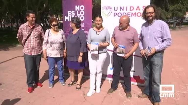 García Molina (Unidas Podemos) elige Talavera de la Reina para comenzar la campaña
