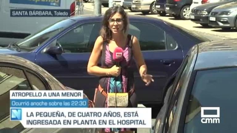 Una niña, herida grave al ser atropellada por un turismo en el barrio de Santa Bárbara de Toledo