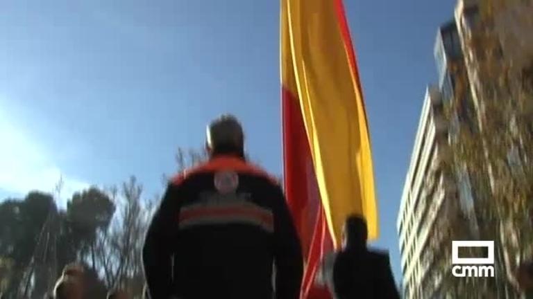 35 metros cuadrados de bandera para homenajear a la Constitución en Albacete
