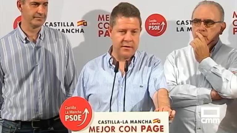 PSOE: García-Page, en la provincia de Toledo, se opone al trasvase aprobado por el Gobierno español