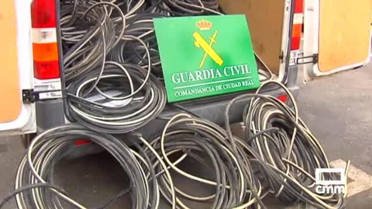 26 detenidos por robar 10 toneladas de cable de cobre, en Ciudad Real y Toledo