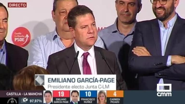El PSOE de Emiliano García-Page consigue mayoría absoluta para gobernar Castilla-La Mancha