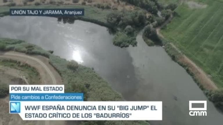 Vídeo: Imagen aérea de la contaminación que arrastra el Jarama al Tajo, según WWF