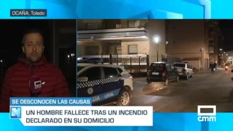 Aparece un hombre muerto tras un incendio en un edificio de Ocaña (Toledo)