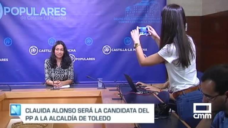 Claudia Alonso y Cañizares, candidatos del PP a la alcaldías de Toledo y Ciudad Real