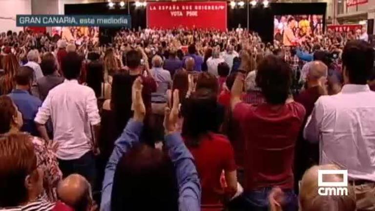 PSOE: Pedro Sánchez pide el voto para los socialistas, para avanzar