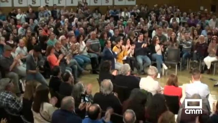 Unidas Podemos celebra un mitin en el Palacio de Congresos de Toledo