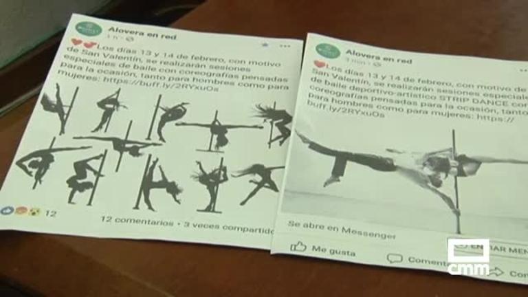 Polémica en Alovera (Guadalajara) por la publicidad de unos cursos de strip dance