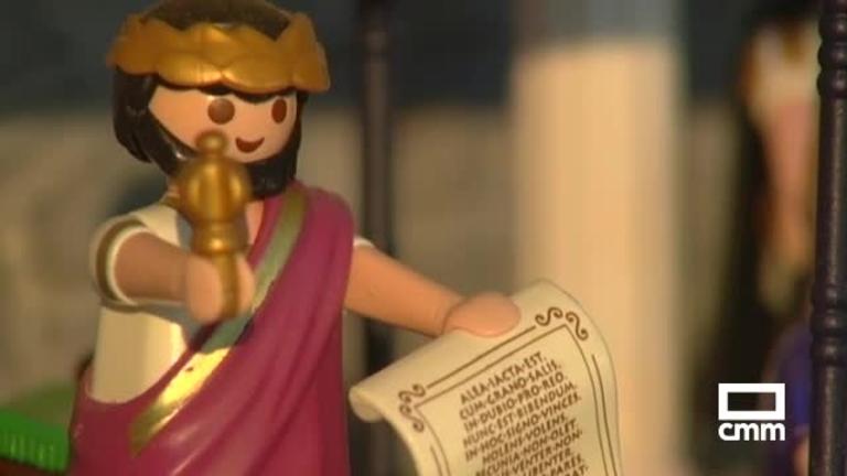 Un belén de playmobil de Argés (Toledo) tiene 3.000 piezas y escenas manchegas