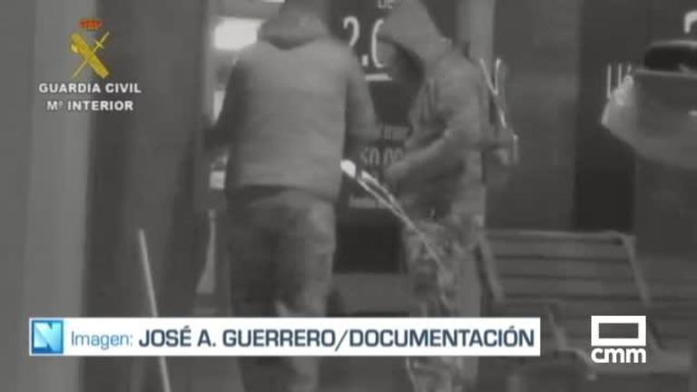 Detenidos en Santa Ana (Albacete) cuatro miembros de una banda, especializada en robo de cajeros con el explosivo