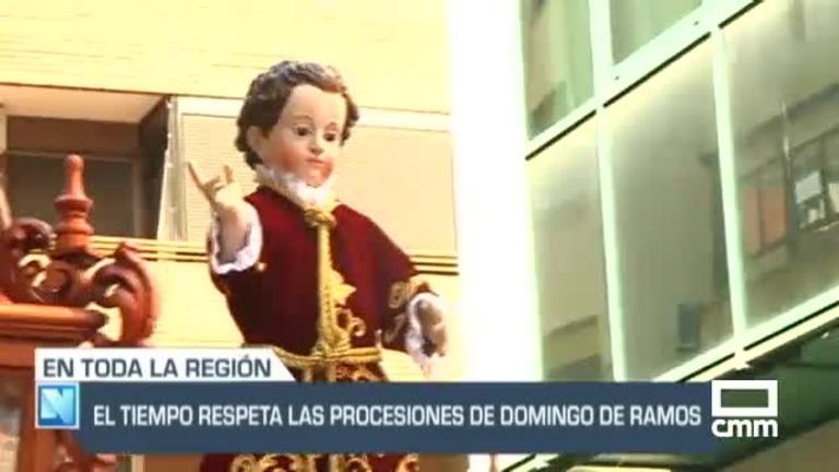 Domingo de Ramos en Castilla-La Mancha: el tiempo ha respetado las procesiones