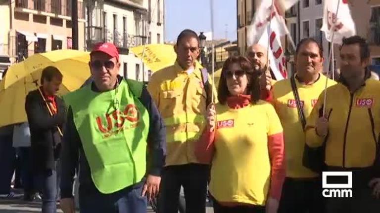 Trabajadores de Geacam reclaman en Toledo pasar a ser personal laboral de la Junta