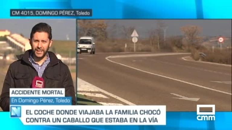 Muere una mujer tras colisionar su vehículo con un caballo en Domingo Pérez (Toledo)
