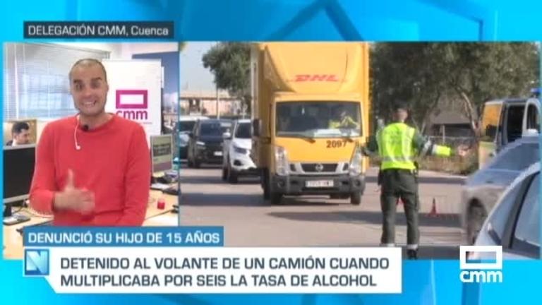 Un menor avisa al 112 porque su padre conducía ebrio un camión en Cuenca