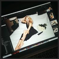 Backstage bei 'Lena Gercke for ghd'