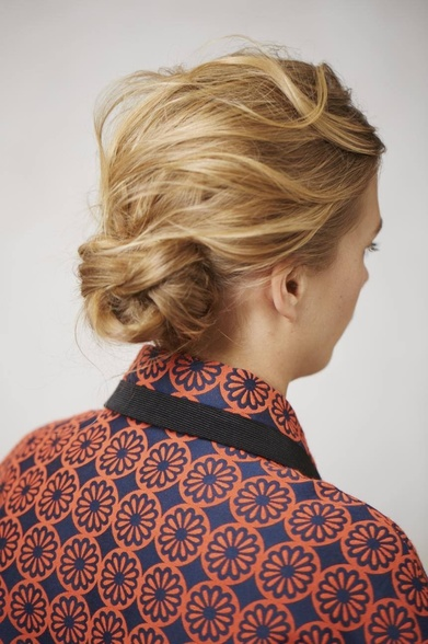 Knitted chignon