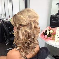side curls. blonde softness