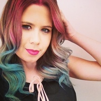 Pink/blue creative hair