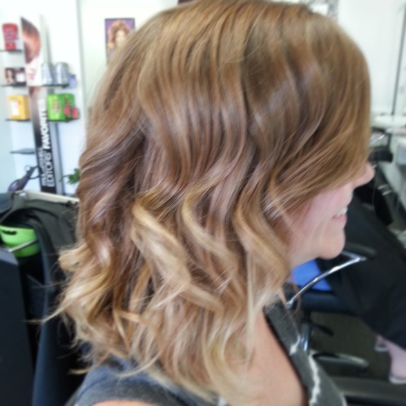 soft curls.  highlighted ends.
