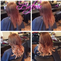 Balayage on red head