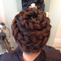 Twisted Spiral Hair Up Do