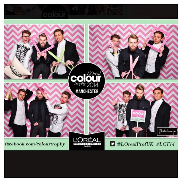 Loreal colour trophy photobooth