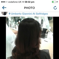 Big open curl blowdry finish