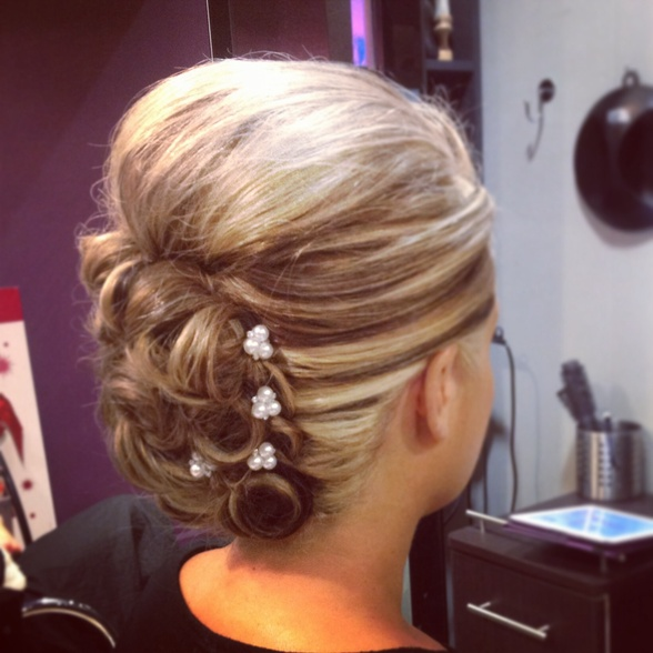 Ladies hair up