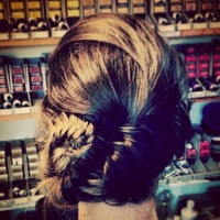 Fishtail plait hair up