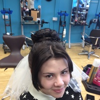 Hair up and bridal