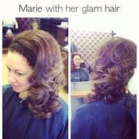 Christmas party curls with pleat