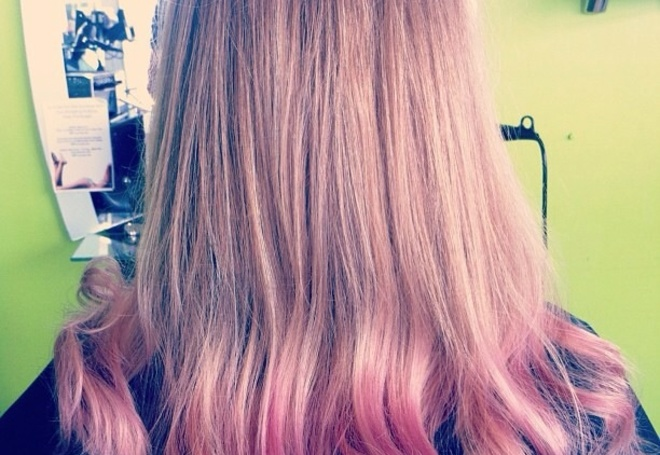 Pink Ombré With Soft Waves