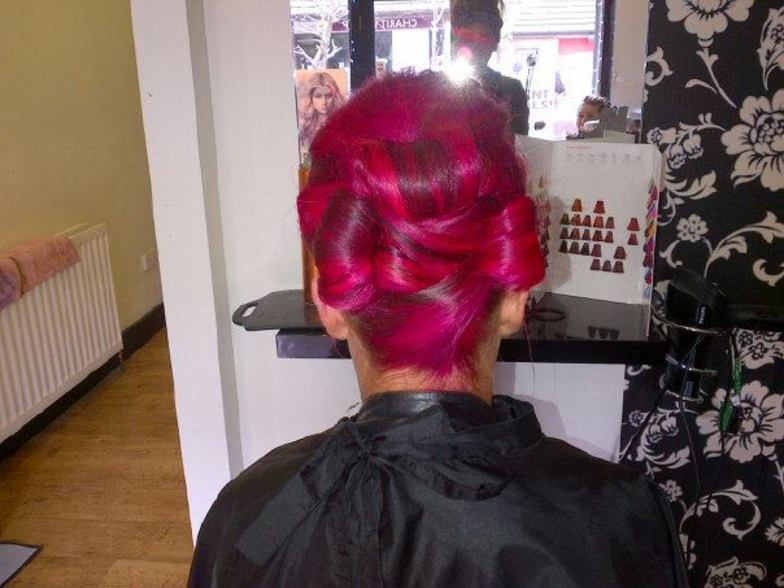 Pink  up do